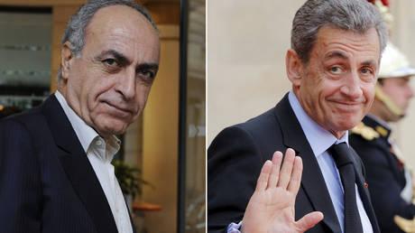 (L) Ziad Takieddine © REUTERS / Gonzalo Fuentes; (R) Nicolas Sarkozy © REUTERS / Philippe Wojazer