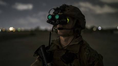 A US soldier in Somalia, June 16, 2020.