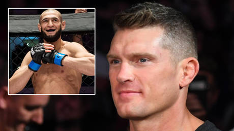 UFC fighter Stephen Thompson (right) has dismissed talk of a fight against Khamzat Chimaev © Instagram / khamzat_chimaev | © Christopher Hanewinckel / USA Today Sports via Reuters