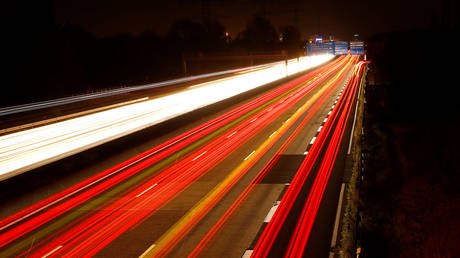 FILE PHOTO: Cars are pictured on long time exposure on highway A5 in Frankfurt, Germany ©  Reuters / Kai Pfaffenbach