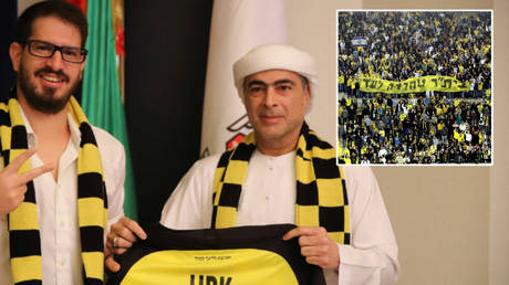 Sheikh Hamad Bin Khalifa Al Nahyan (right) has invested in Israeli side Beitar Jerusalem © Courtesy Beitar Jerusalem / Reuters | © Stringer / Reuters