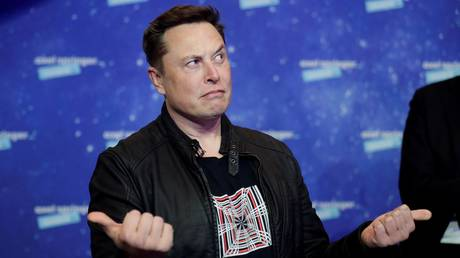 Elon Musk is shown arriving at the Axel Springer Award event on December 1 in Berlin.