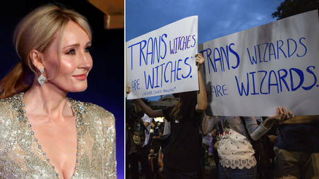 JK Rowling received death threats after commenting on trans issues. ©REUTERS/Neil Hall; Getty Images / Lauren DeCicca