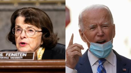 Dianne Feinstein and Joe Biden © Reuters / Bill Clark and Kevin Lamarque