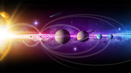 An illustration of the planets in our Solar System and the missions sent to explore them. © Jenny Mottar / NASA.