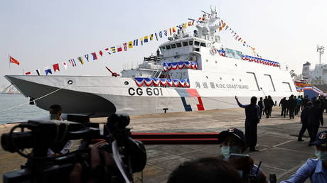 Taiwan's Anping coast guard ship at its commissioning ceremony in Kaohsiung, Taiwan, December 11, 2020. © Reuters / Ann Wang