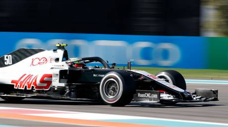 MIck Schumacher tests the Haas F1 car at Abu Dhabi