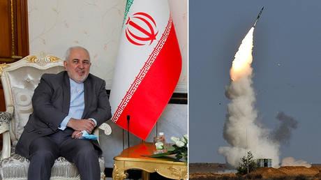 Javad Zarif. © REUTERS / Khalid al-Mousily;  An S-400 launch. © Sputnik / Maksim Blinov