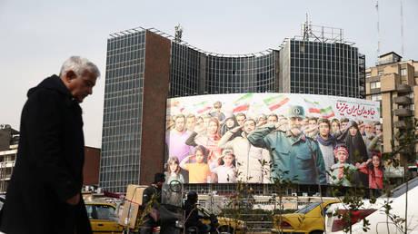 FILE PHOTO. A billboard of General Soleimani is seen on Valiasr square in Tehran, Iran.