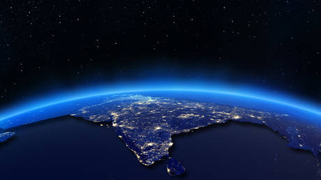 India city lights map © Getty Images / 1xpert