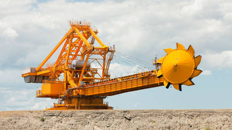 Coal moving machinary at Port Waratah in Newcastle which is the worlds largest coal port