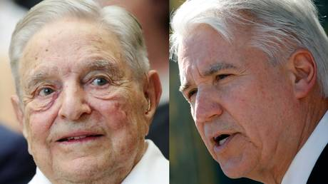 George Gascon (R) was elected Los Angeles district attorney with more than $2.5 million in campaign funding from billionaire George Soros (L).