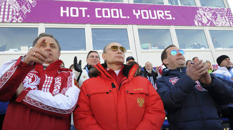 Putin pictured at the 2014 Games in Sochi. © Reuters