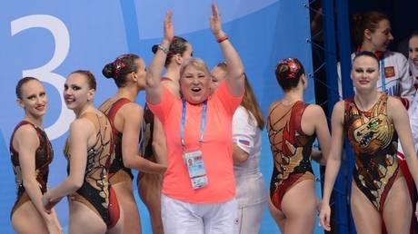 Tatyana Pokrovskaya and Russian synchronized swimmers © Sputnik / Vladimir Vyatkin