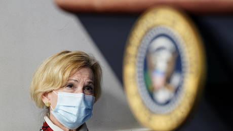 Dr. Debbie Birx, the White House coronavirus response coordinator at the White House in Washington, U.S., July 23, 2020.© REUTERS/Kevin Lamarque
