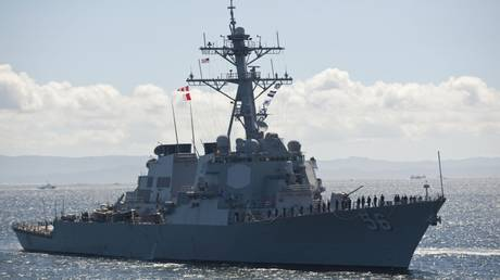 Guided missile destroyer USS John McCain, shown here in a 2012 file photo