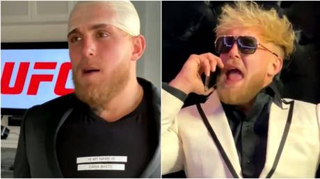 YouTuber Jake Paul mocked the likes of UFC personalities Dana White and Conor McGregor in his short satire clip. © Instagram @jakepaul