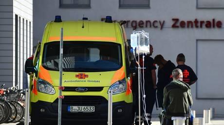 FILE PHOTO Ambulance at the Charite clinic in Berlin © Sputnik / Alexey Vitvitskiy