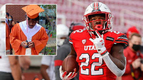 Utah Utes back star Ty Jordan has reportedly died at the age of 19 in an apparent accidental shooting © Twitter / _ylfotyt | © Jeffrey Swinger / USA Today Sports via Reuters
