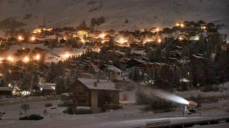 FILE PHOTO: The Alpine ski resort of Verbier, Switzerland, is seen on December 1, 2020.
