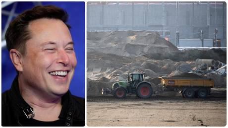 Elon Musk / Giga Berlin construction site. ©REUTERS/Hannibal Hanschke