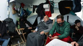 Portuguese restaurant owners hold HUNGER STRIKE in front of parliament, as Covid lockdown cripples hospitality sector