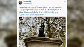 Darth Vader statue erected on Bristol plinth once belonging to BLM-toppled monument to slave trader