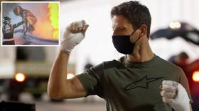 'It's great to see you, Romain!' F1 ace Grosjean returns to scene of Bahrain horror crash that nearly cost him his life (VIDEO)