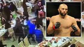 WATCH: Mass brawl breaks out at Moscow MMA event as DOZENS clash in cage