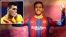 'Do they even watch football?!' Fans BEMUSED as Barcelona wax museum rolls out UNCONVINCING Lionel Messi waxwork