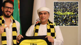 'They're racist as f*ck': Fans who sang 'death to Arabs' protest as Israeli football club part-sold to UAE sheikh pledging $92MN