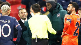 'Demba Ba is the f*cking man': Fans row as stars WALK OFF in Champions League after furiously accusing official of racism (VIDEO)