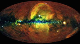 Astronomers detect gigantic x-ray bubbles stretching out above and below the Milky Way