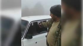 New Nagorno-Karabakh war crime fears as Azeri soldier boasts to camera about killing Armenian civilian & mutilating corpse (VIDEO)