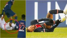 PSG and Neymar given 'reassuring news' after fears star had snapped ankle in horror tackle by fellow Brazilian