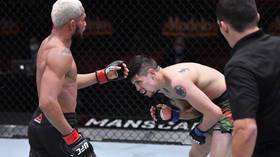 UFC star Brandon Moreno reveals wife feared for his testicles after excruciating low blow during title fight with Figueiredo