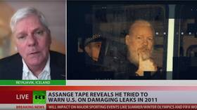 Tape of Assange warning US government in 2011 is 'overwhelming evidence' of his innocence, WikiLeaks editor-in-chief tells RT