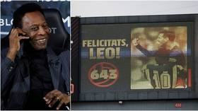 'Congratulations on your historic record, Lionel': Pele praises Messi for tying his all-time single club goalscoring tally