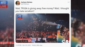 'This is considered conservatism': Turning Point USA ripped after shooting money out of cannons at student event