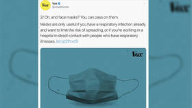 'Memory holing history': Vox slammed after deleting March tweet advising readers to 'pass' on facemasks