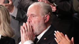 Cancer-stricken shock jock Rush Limbaugh rejects Biden's 'bleak' outlook for US in emotional final broadcast of 2020