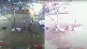 """""""Dieser Bereich muss jetzt evakuiert werden"""": Das CCTV-VIDEO der Explosion in Nashville erfasst kühles Audio. WARNUNG vor der verheerenden Explosion"""