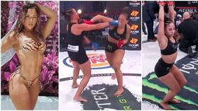 'Signed my bout agreement like this': Bellator fan favorite Loureda poses in pink bikini as name & date revealed for next fight
