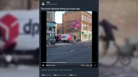 WATCH: Penny farthing slams into DPD delivery van in bizarre clash of cultures