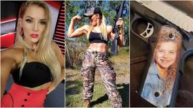 'That's just weird': Fans argue after gun-loving WWE star Lacey Evans 'shows off weapon with daughter's face on as Christmas gift'
