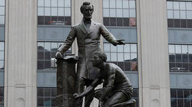 How can a memorial celebrating emancipation & Abraham Lincoln, the man who abolished slavery in America, be considered offensive?