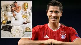 Not bad for a year's work: Robert Lewandowski shows off 12 TROPHIES after Bayern striker's stellar year in 2020