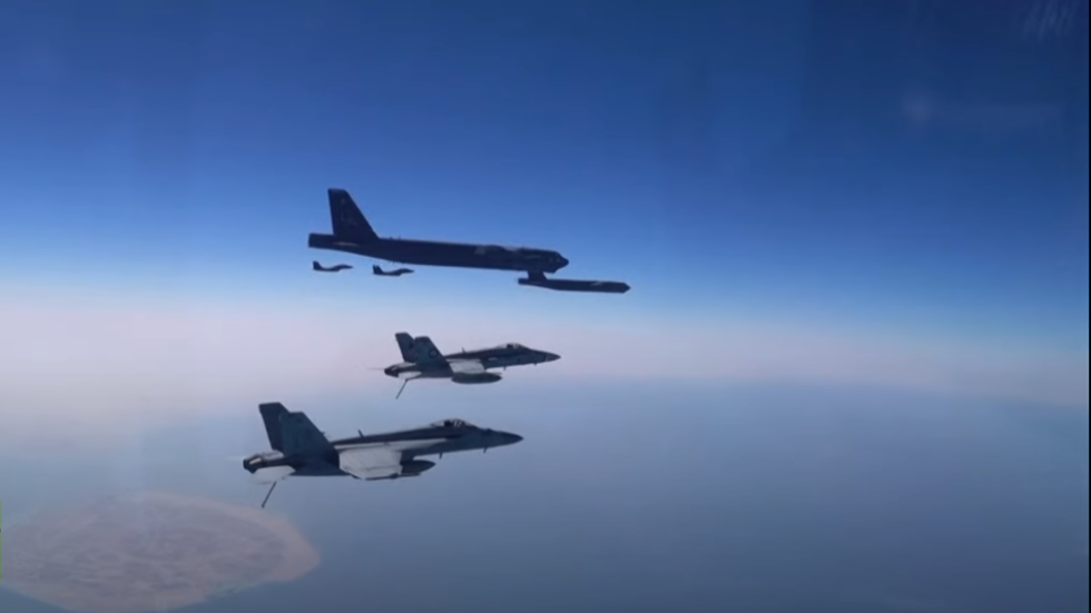 US shows off nuclear-capable B-52 bombers on Iran's doorstep week after Biden's inauguration (VIDEO)