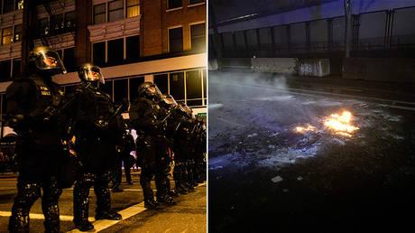 (L) Portland City Police © AFP / Kathryn ELSESSER; © portlandoregon.gov