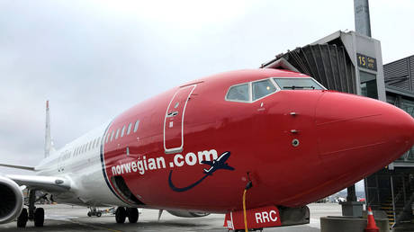 A Norwegian Air plane is refuelled at Oslo Gardermoen airport, Norway November 7, 2019. Picture taken November 7, 2019.